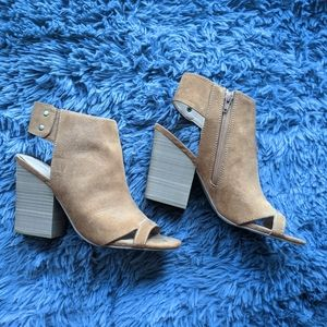 Express Open Toe Ankle Boots